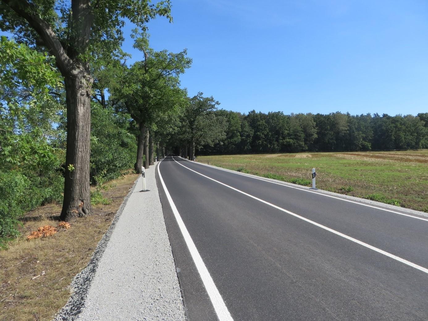 S 92 Richtung Bernsdorf, freie Strecke
